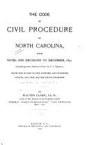 The Code of Civil Procedure of North Carolina