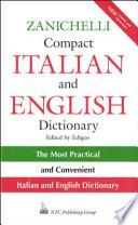 Zanichelli Compact Italian and English Dictionary
