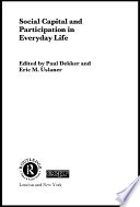 Social Capital And Participation In Everyday Life Book PDF