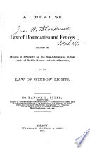 A Treatise On The Law Of Boundaries And Fences Book PDF