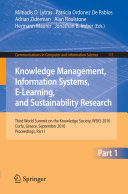 Pdf Knowledge Management, Information Systems, E-Learning, and Sustainability Research Telecharger