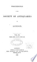 Proceedings of the Society of Antiquaries of London