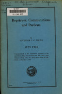 Reprieves Commutations And Pardons