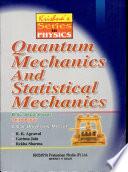 Quantum Mechanics And Statistical Mechanics Book PDF
