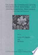 Technical Communication, Deliberative Rhetoric, and Environmental Discourse