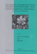 Technical Communication  Deliberative Rhetoric  and Environmental Discourse