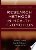"""Research Methods in Health Promotion"" by Richard A. Crosby, Ralph J. DiClemente, Laura F. Salazar"