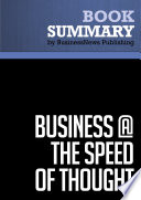 Summary  Business   The Speed Of Thought   Bill Gates