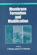 Membrane Formation and Modification