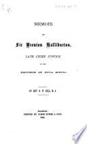Memoir Of Sir B Halliburton Including Some Of His Writings