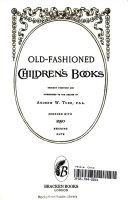 Old Fashioned Children s Books