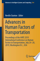Advances in Human Factors of Transportation