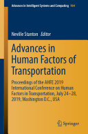Advances in Human Factors of Transportation
