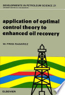Application Of Optimal Control Theory To Enhanced Oil Recovery Book PDF