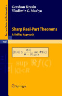 Sharp Real-Part Theorems