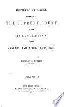 Reports of Cases Determined in the Supreme Court of the State of California Book