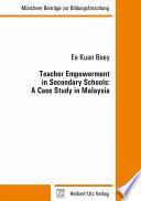 Teacher Empowerment In Secondary Schools