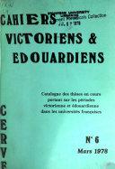 Cahiers Victoriens & Édouardiens Pdf/ePub eBook