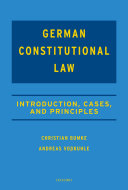 Casebook on German Constitutional Law