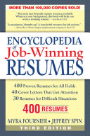 Encyclopedia of Job Winning Resumes, third edition