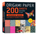 Origami Paper 200 Sheets Japanese Washi Patterns 6 75