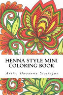 Henna Style Mini Coloring Book