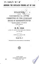 Amending The Displaced Persons Act Of 1948