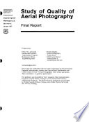 Study of Quality of Aerial Photography