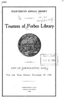 Annual Report Of The Forbes Library