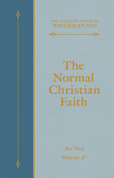 The Normal Christian Faith [Pdf/ePub] eBook