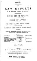 Law Reports: King's Bench Division