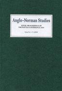Anglo Norman Studies XXXIII