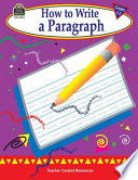 How To Write A Paragraph Grades 1 3
