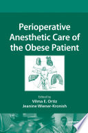Perioperative Anesthetic Care Of The Obese Patient Book PDF