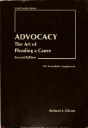 Advocacy  the Art of Pleading a Cause