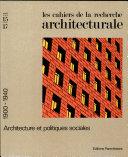 Les Cahiers de la recherche architecturale