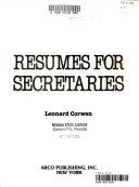 Resumes for Secretaries