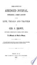 Brown s Abridged Journal