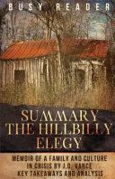 The Hillbilly Elegy Summary Book