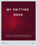My knitting book