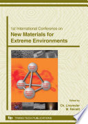 1st International Conference On New Materials for Extreme Environment