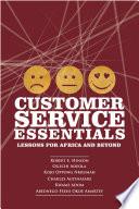 Customer Service Essentials Book