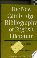 The New Cambridge Bibliography of English Literature:  , Band 1;Bände 600-1660