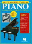 Teach Yourself to Play Piano (Music Instruction) Pdf/ePub eBook