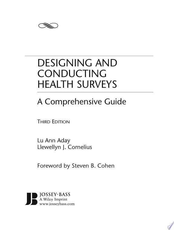 Designing and Conducting Health Surveys