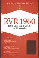 Rvr 1960 Biblia Letra Super Gigante, Marron Oscuro Simil Piel