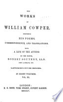 The Works of William Cowper  Letters  1783 1788