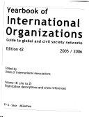 Yearbook Of International Organizations 2005 2006