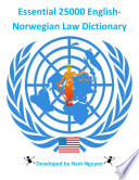 Essential 25000 English Norwegian Law Dictionary