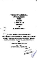 Voice of America Interviews with Eight American Women of Achievement